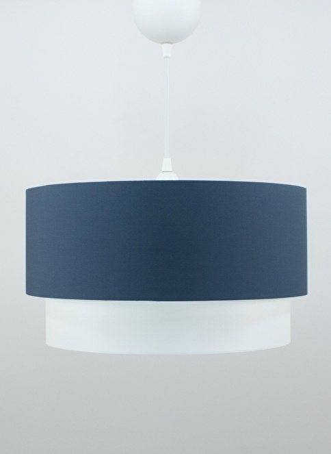 Crea Lighting Doubleshade Large Sarkıt 40cm-3 Ampul Mavi